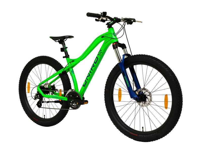 Unirox ExPlorer plus vihreä maastopyörä etuviisto - Tuusulan Pyörä